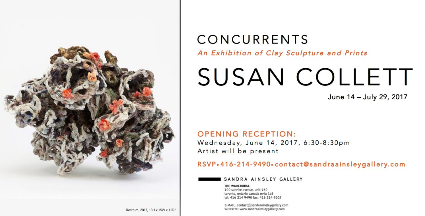 Susan Collett: Concurrents an Exhibition of Clay Sculpture and Prints